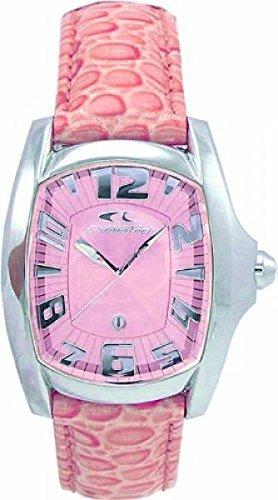 Chronotech CT 7988l 07 Prisma Leder pink Fischerei Stahl Kristallen