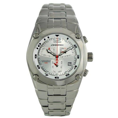 Chronotech CHTCT 7923M 01M Silber Armband Band Silber Zifferblatt Uhr