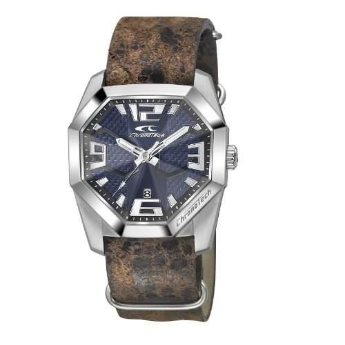 ORIGINAL CHRONOTECH Uhren Ego S-Line Herren Uhrzeit und Datum 5 ATM - rw0161