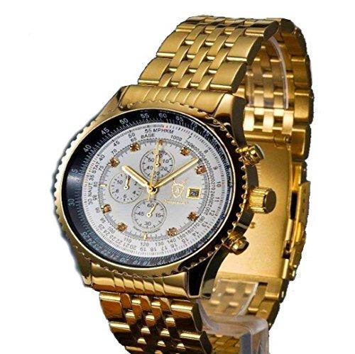 Goldener Flieger Herrenchronograph Stoppuhr