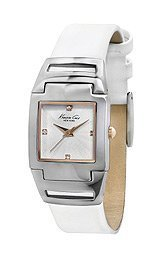 Kenneth Cole New York Silver with White Strap Womens watch KC2814
