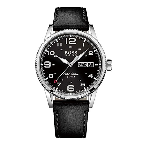 Hugo Boss Netz Me Up Pilot Edition Analog Dress Quarz Batterie Reloj 1513330