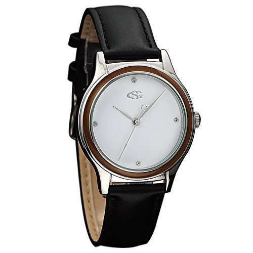 GEORGE SMITH Unisex Klassische Handgemachte Elegante Luxus Armbanduhr mit Lederband Band Armbanduhr