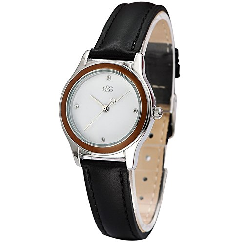 GEORGE SMITH Damen Antike Analoge Quarz Wasserdichte Armbanduhr mit Lederband fuer Freundin