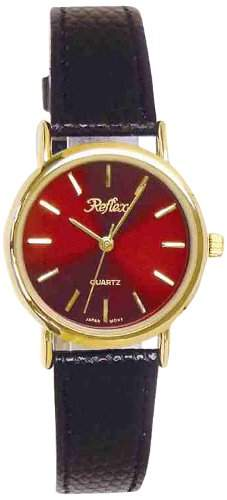 Reflex - 101066LT die Dame-Armbanduhr Analog Polyurethan, Schwarz
