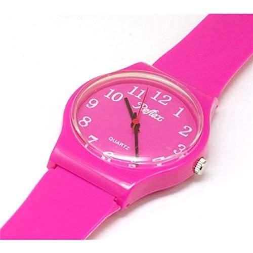 Reflex - 1560104U - pinke Plastik-Armbanduhr  Uhr Unisex
