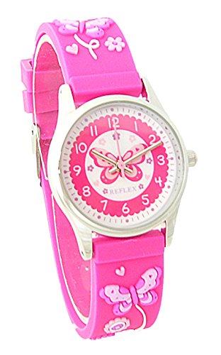 Reflex REFK11 Maedchen Uhr 3D Schmetterling Motiv Pink