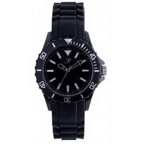 Reflex - SR001 - Schwarze Silikon Uhr  Armbanduhr Unisex