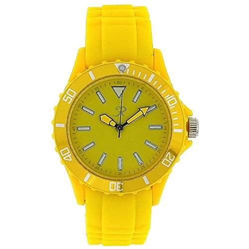 REFLEX SR005 Unisex Sport-Armbanduhr analog in gelb mit Silikonarmband