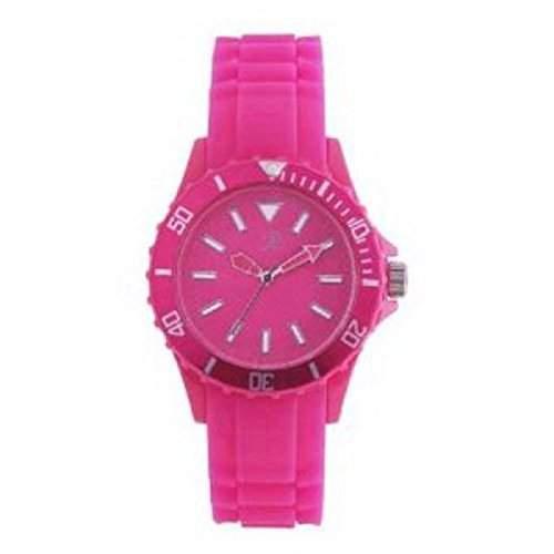 Reflex - SR007 - Knall- Pink Silikon Uhr  Armbanduhr Unisex
