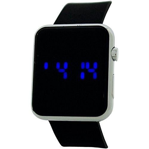 Reflex Unisex Digital Armbanduhr REF0077 Multifunktionsuhr laessiger Stil Armband Gummi Schwarz