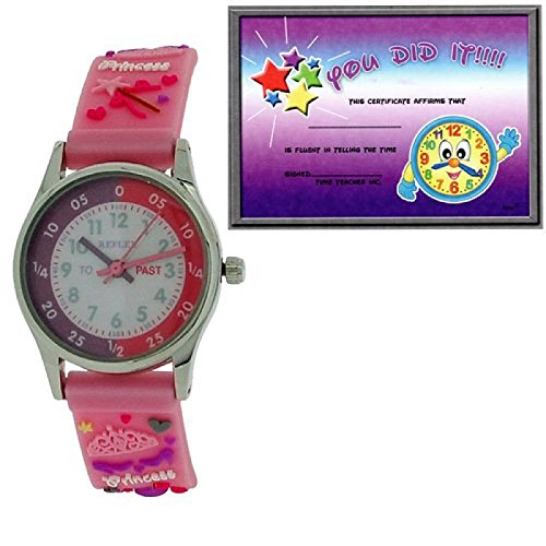Reflex Zeitlern rosa 3D Prinzessinarmband REFK0009 Uhr Lesen Urkunde