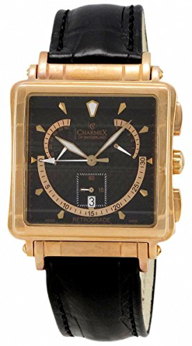 Charmex Le Mans Retrograde Chronograph Rose Gold Plated Steel Mens Watch Day of Week 2226