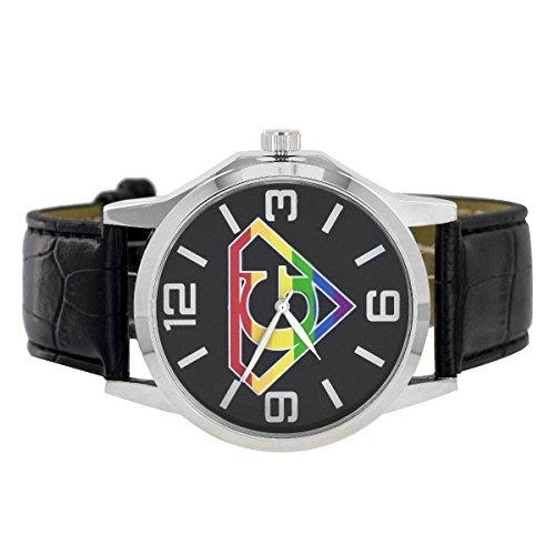 G Custom Style Rainbow schwarz Leder Armbanduhr Stahl wieder Jojino Master Stil Verkauf