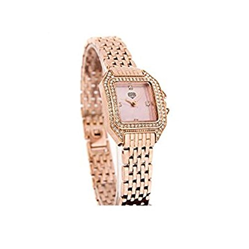 Neue Diamant Damen Rose Gold Dress Watch Perlmutt