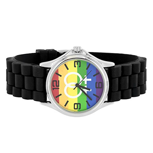 Double Female Sign Gay Pride Rainbow Zifferblatt LGBT Gummi Band Armbanduhr Jojo Jojino Verkauf