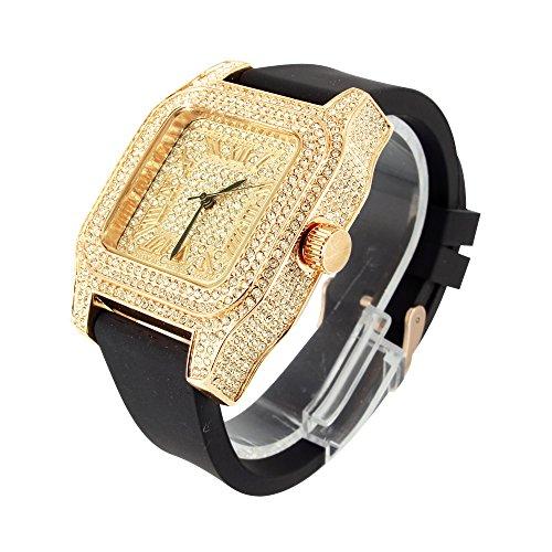 Rose Gold Finish Herren vollstaendig Iced Out Techno Pave Joe Rodeo Lab Diamant Armbanduhr NEU