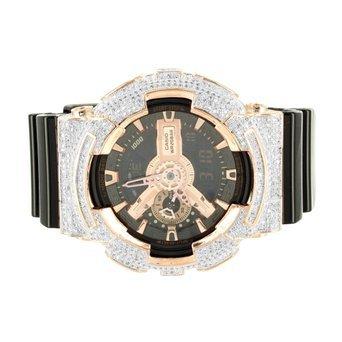 ga110gd G Rose Gold Finish Shock Herren Digital Analog Lab Diamant Armbanduhr