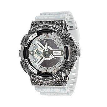 Herren XL G ga110sl 8 a Shock Slash Print Grau Silikon Band Armbanduhr Schwarz Iced Luenette