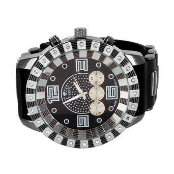 Herren Hip Hop Uhren Lab Diamant Guenstigster Preis schwarz PVD Jojo Jojino Techno Ice
