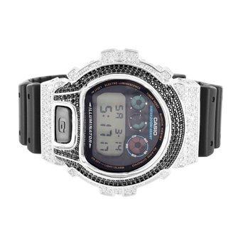 Herren Iced Out DW6900 G Schock Silikon Band Armbanduhr Verkauf