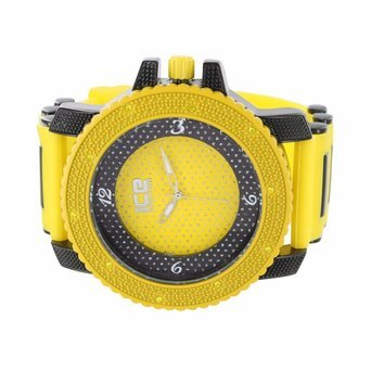 Herren Gelb Schwarz Watch 2 Tone Jojo Jojino Style Sport Analog Limited Edition