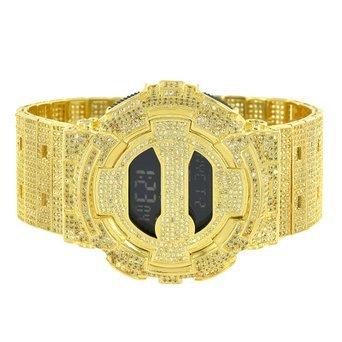 Sleek Kanarischen Lab Diamant G Herren Shock Custom DW6900 Digital Band Armbanduhr NEU
