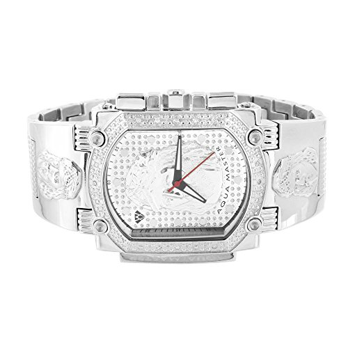 Aqua Master Classic Bling Icy Jojo King Jojino Jesus Face Herren Diamant Armbanduhr Verkauf