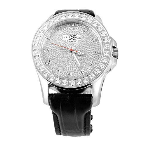 Schraube auf Iced Out 1 Zeile Luenette Khronos Joe Rodeo Jojino Genuine Diamond Watch New