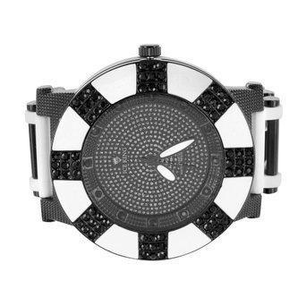 Schwarz Weiss Zebra Armbanduhr Kunstdiamant Bullet Design Gurt Jojo Jojino Stil