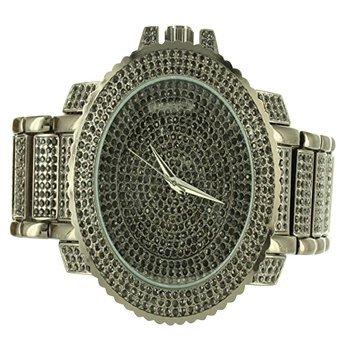 Schwarz Finish Kunstdiamant aus massivem Stahl Techno Pave Joe Rodeo Verkauf