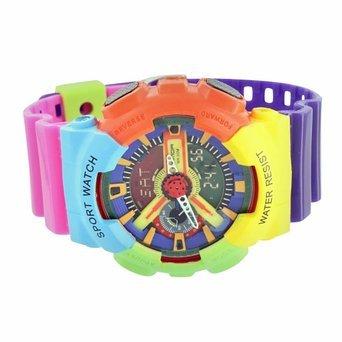 Gay Pride stossfest Armbanduhr Sport Herren Wasser bestaendig Analog Digital NEU