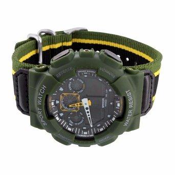 Gruen Stossfest Armee Sport Armbanduhr Geschenk Digital Analog Neue