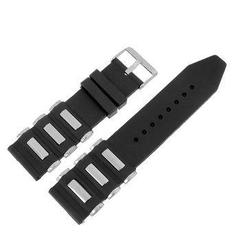 Uhrenarmband BM Armbanduhr Designer Dreifach Bullet Style Silber Silikon Schwarz Bands NEU