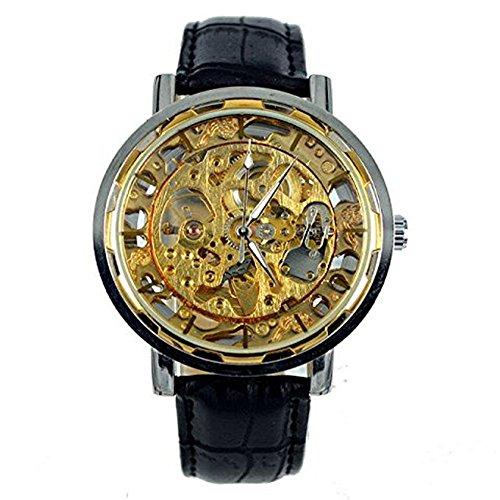 kangshi 001 Herren Automatik Skelett Mechanische Militaer Uhr Herren Mechanische Uhr Full Edelstahl Armbanduhr