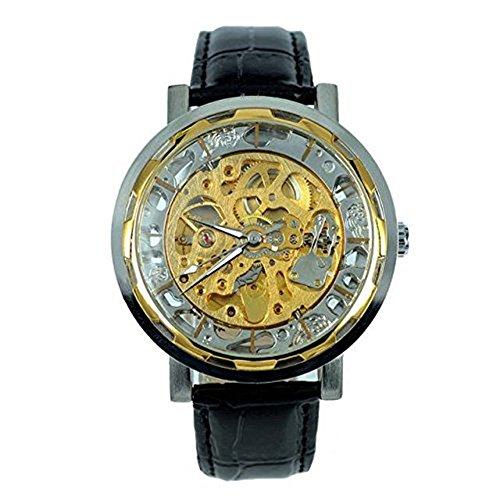 kangshi 002 Herren Automatik Skelett Mechanische Militaer Uhr Herren Mechanische Uhr Full Edelstahl Armbanduhr Fashion Uhren
