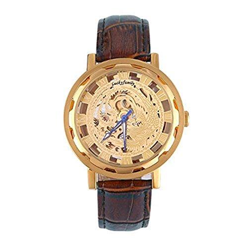 kangshi 520 Herren Automatik Skelett Mechanische Militaer Uhr Herren Mechanische Uhr Full Edelstahl Armbanduhr