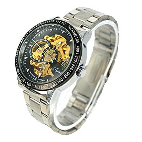 Herren Automatik Skelett Mechanische Militaer Uhr Herren Mechanische Uhr Full Edelstahl Armbanduhr