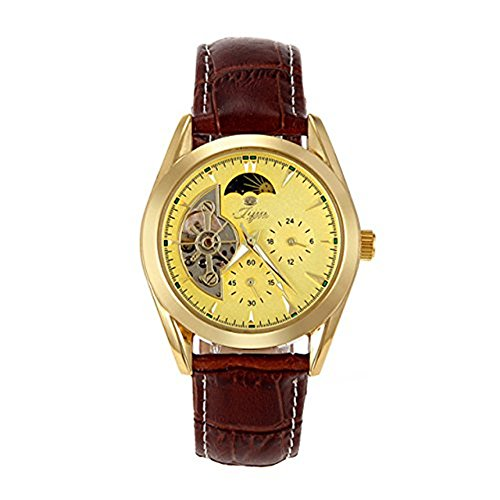 Fashion Herren Automatik Skelett Mechanische Militaer Uhr Herren Mechanische Uhr Full Edelstahl Armbanduhr