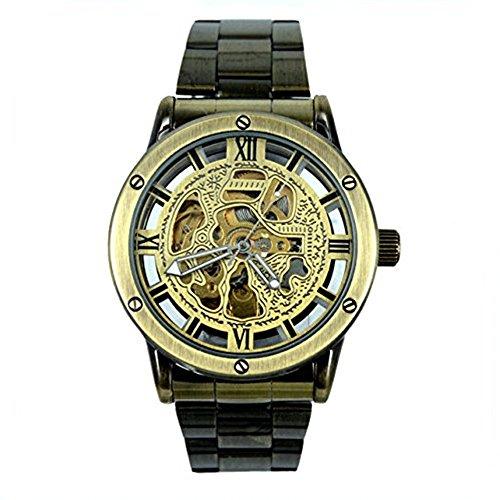 G8122 Herren Automatik Skelett Mechanische Militaer Uhr Herren Mechanische Uhr Full Edelstahl Armbanduhr Fashion Uhren