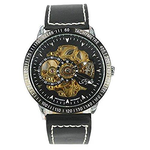 W1 Herren Automatik Skelett Mechanische Militaer Uhr Herren Mechanische Uhr Full Edelstahl Armbanduhr