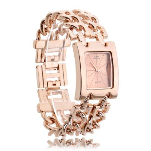 Armbanduhr Quarz Uhren Armband Armkette Legierung Rechteckig Modern