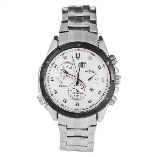 Armbanduhr Quarzwerk Edelstahl Silberfarbe Quarzuhr Neu