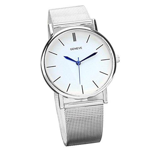 Covermason Damen Quarz Armbanduhr Uhr rostfrei Stehlen Band Analog Silber