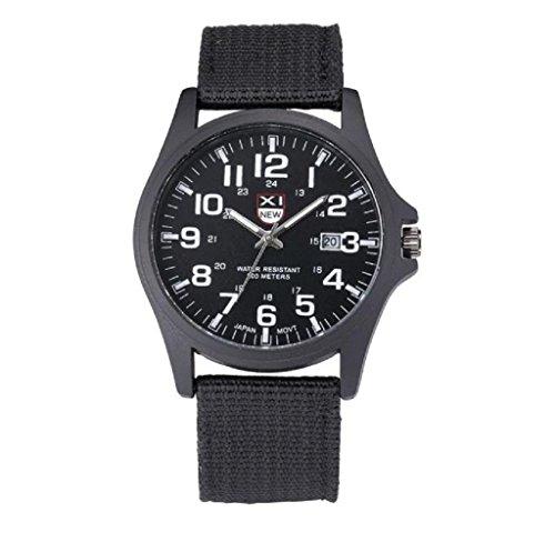 Covermason Herren Quarz Armbanduhr Uhr Datum rostfrei Stehlen Militaer Sport Analog Armee Armbanduhr Schwarz