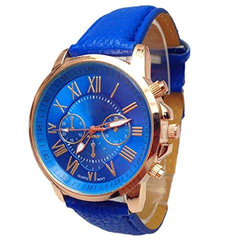 Covermason Damen Quarz Armbanduhr Uhr Stilvolle Ziffern Analog Armbanduhr Blau