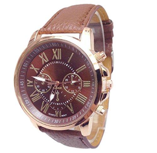 Covermason Damen Quarz Armbanduhr Uhr Stilvolle Ziffern Analog Armbanduhr Braun