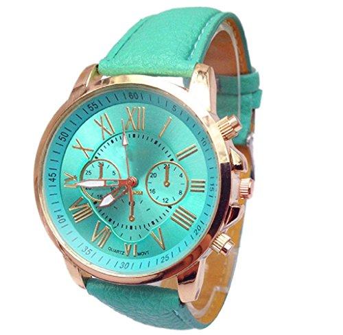 Covermason Damen Quarz Armbanduhr Uhr Stilvolle Ziffern Analog Armbanduhr Himmelblau