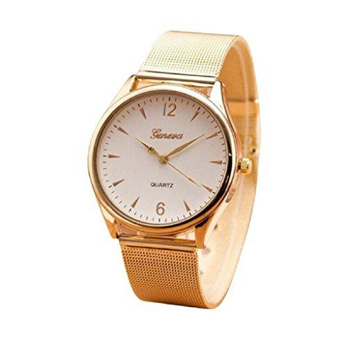Covermason Damen Quarz Armbanduhr Uhr rostfrei Stehlen Uhr Weiss