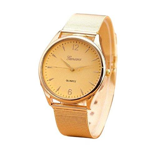 Covermason Damen Uhr rostfrei Stehlen Uhr Gold